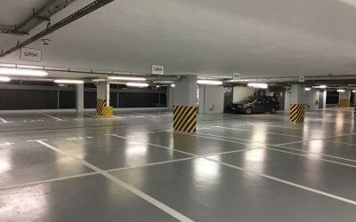 Zakończyliśmy modernizację parkingu podziemnego w budynku 1000
