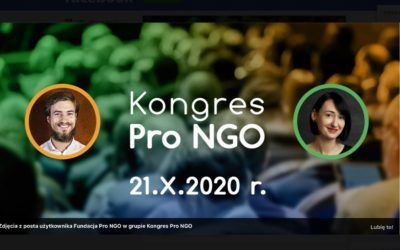 Upcoming events online at Eximius Park. PRO NGO Congress October 21, 2020.