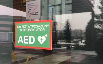 AED wbiurowcach Eximius Park, bykażdy mógł uratować życie